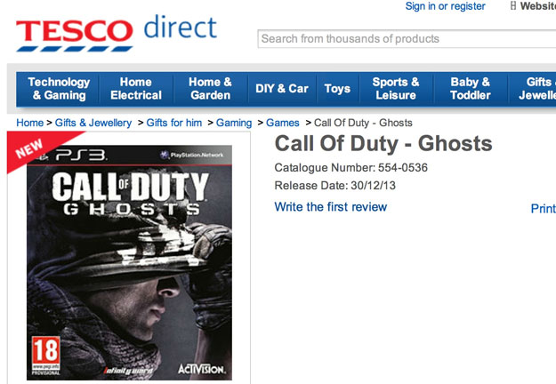 New Call of Duty Ghosts