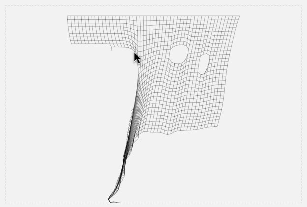 JavaScript tear-able cloth simulation