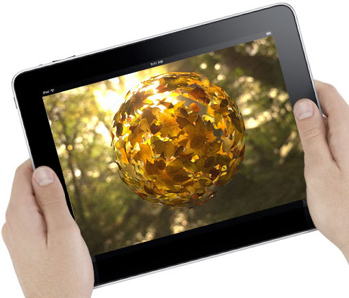tilting images for iPad