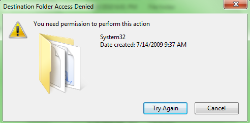How to overwrite system files with permission admin privileges