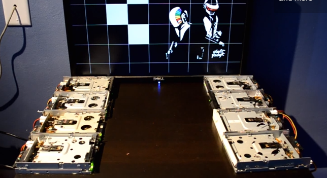 Daft Punk performed on floppy drives