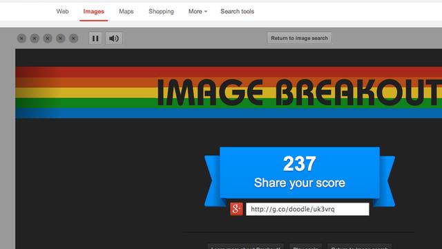 Atari Breakout on Google Image