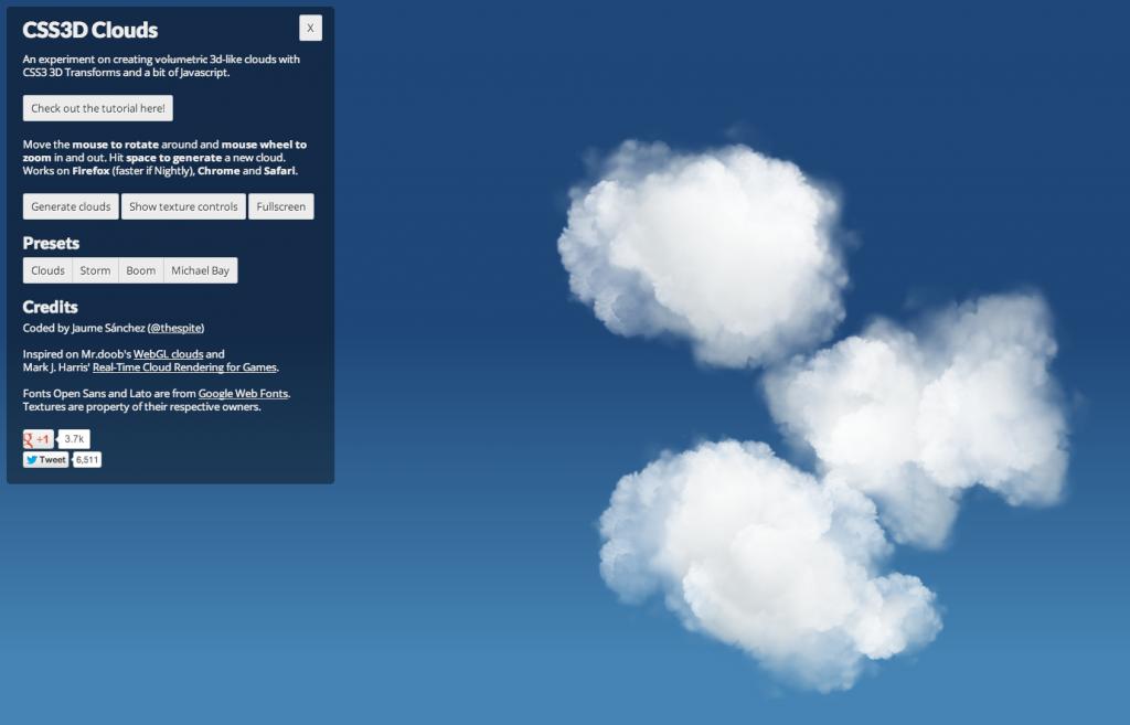 Amazing CSS3 animated cloud renders