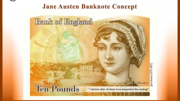 Jane Austen new £10 note concept