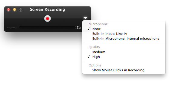 How to Use the Mac OS X Screen Recorder Built In To Quick Time