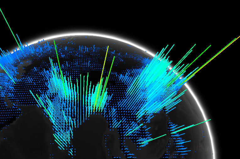 3D Globe Showing Worlds Population