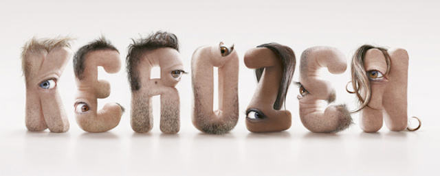 Kerozen creepy human flesh font