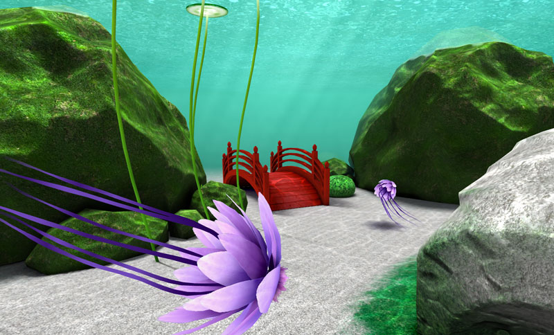 Underwater graphics 3d browser