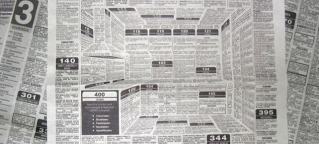 Newspaper Print Kitchen Advert