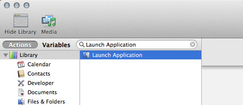 how to create a shortcut to open apps in mac