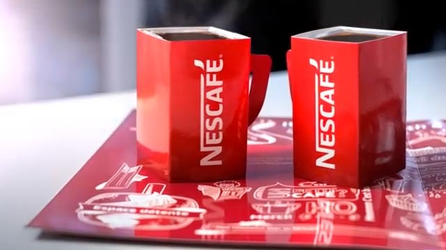 Nescafe Pop Up Mugs Newspaper Magazine Advert