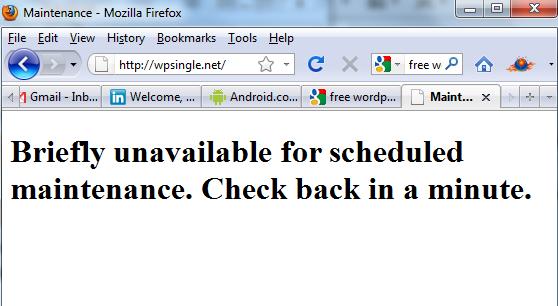 WordPress Maintenance Mode Error How to Fix